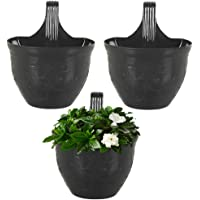 MUCH-MORE® Hook Planters for Plants Railing Flower Pots | Balcony Railing Vertical Hanging for Home Gardening | Plastic…