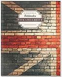 DÉKOKIND Vokabelheft | DIN A4, 84 Seiten, 2 Spalten, Register, Vintage Softcover | Dickes Vokabelbuch | Motiv: Englische Flagge