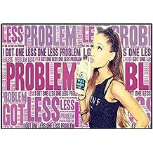 Ariana–problema–Pop Star Superstar Singer Sexy Lady mejor foto de color de imagen única Impresión A4Póster Laminado