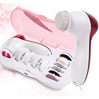 Weltime Beauty Care Brush Deep Clean 5-In-1 Portable Electric Facial Cleaner Multifunction Massager Relief,facial massager machine for face,face massager for facial,facial massager machine (Pink)
