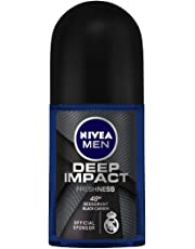 NIVEA MEN Deodorant Roll On, Deep Impact Freshness, 50ml