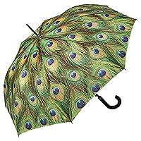VON LILIENFELD® Umbrella Automatic Women Motif Peacock