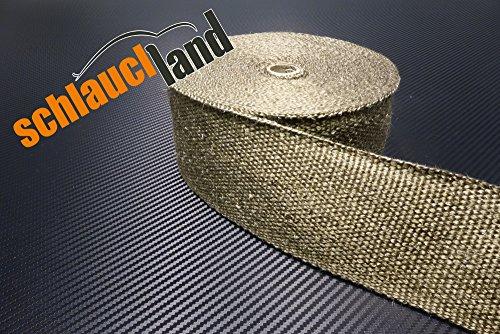 20m Titan Hitzeschutzband breit 75mm 1400°C SCHLAUCHLAND*** Auspuffband Thermoband Krümmerband Heat Wrap Basaltfaser Isolierband