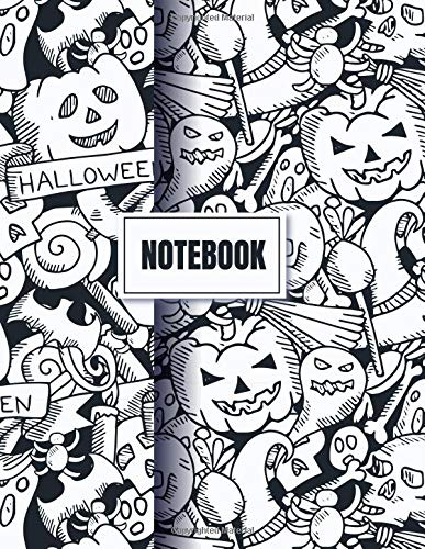 Notebook: Happy halloween cover (8.5 x 11)  inches 110 pages, Blank Unlined Paper for Sketching, Drawing , Whiting , Journaling & Doodling (Happy halloween notebook,)