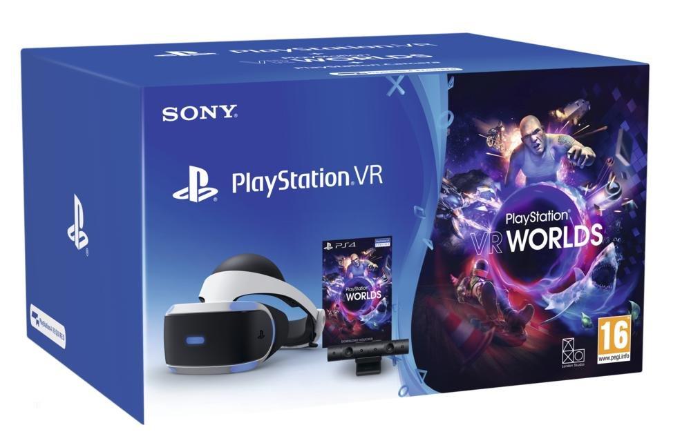 PlayStation VR + Caméra + VR Worlds (Digital)