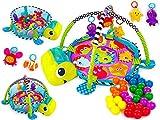 Krabbeldecke Spieldecke Spielbogen Spielmatte KP8025 Babydecke Erlebnisdecke 3 in 1 und vielen Beschäftigungsmöglichkeiten