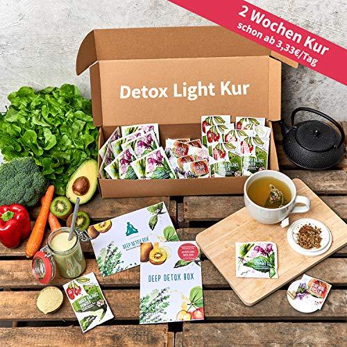 Cleansing-Kur (Light Version) | 100% Vegan | Insgesamt 21 Superfood-Produkte | Abnehmen | Body-Cleanse | Vitalität | 3 Produkte Täglich | Basischer Ernährungsplan |