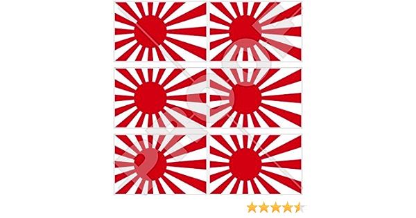 JMSDF Force dAutod/éfense Maritime du Japon JAPON Japonaise Drapeau Soleil Levant 75mm Vinyle Autocollants x2 Stickers