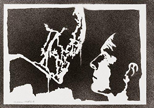 Alien Xenomorph Und David Poster Plakat Handmade Graffiti -
