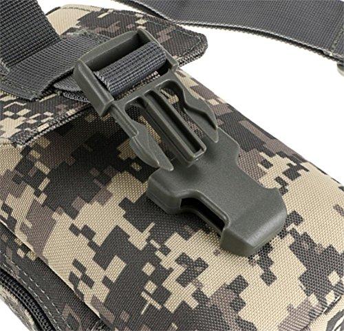 Gespout leggero tattico camouflage petto pacchetto multifunzionale nylon una cinghia Sling zaino, CP camouflage, 18X11X5CM ACU camouflage