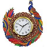 Peacock Round Wall Clock By KK CRAFT| Wall Clock For Home| Analog Wall Clock| Designer Wall Clock