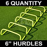 Agility Hurdles (Set of 6 x 6inch) – Multi-Sport Speed Training Aid [Net World Sports] (6 inch Hurdles (pack of 6))