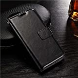 CEDO PU Leather Magnetic Flip Cover Wallet Back Cover Case For OnePlus 5 - Executive Black