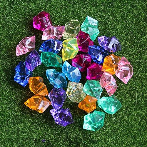 BNASA ca. 100Pcs Kristall Stein Künstliche Eiswürfel Home Garten Decor Zubehör