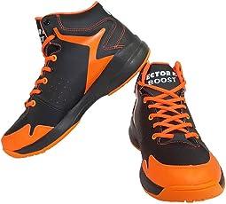 Vector X Boost Basketball Shoes, (Black/Orange)