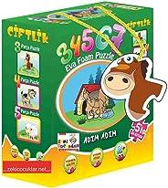 DiyToy Çiftlik  3 4 5 6 7 Adım Adım Baby Puzzle