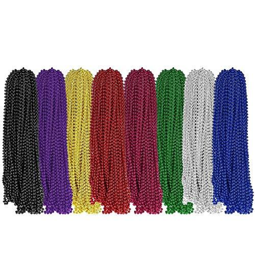 Gaddrt 32 STÜCKE Karneval Perlen Halsketten Party Favors 8 Farben Karneval Perle