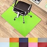 Office Marshal® Protection de sol colorée pour chaise de bureau - Protection polyvalente–Taille et couleur au choix, vert