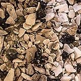 """Steinteppich """"Grigio Perla Venato"""" – Marmorkies inkl. Epoxidharz Bindemittel, Steinboden, Kiesboden, Kieselboden (75kg Marmorkies + 4,5kg Bindemittel)"""
