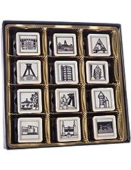 Élégant Pralines Edition Metropole la Ruhr 12chocolats Motif chocolat