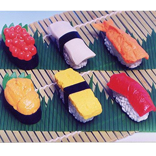 Iwako–Fun Funny Radiergummi Sushi Radiergummi alle 6Typ Set (Iwako Alle Radiergummis)
