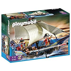 Playmobil - 5140 - Jeu de construction - Navire des soldats britanniques