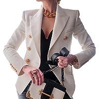 Geagodelia Blazer Donna Primavera con Bottoni Giacca Donna Elegante Maniche Lunghe in Tinta Untia Cardigan Blazer Corto…