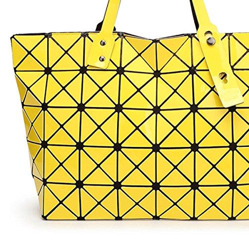 Damen Umhängetasche Handtasche Geometrie Faltenpaket Gesteppte yellow