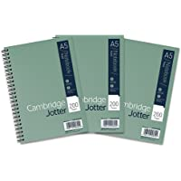 Cambridge Jotter, A5 Notebook, Wirebound, Lined, 200 Page, Pack of 3, green