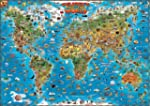 Childrens Map of the World flat lamin...