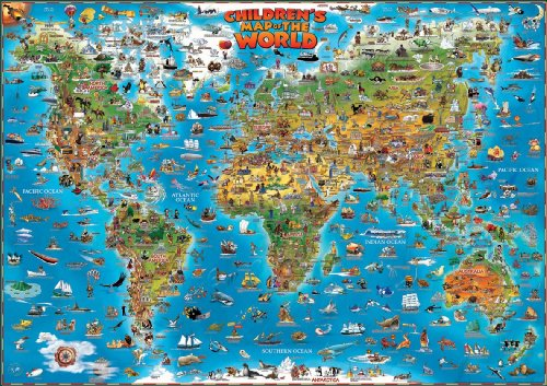 World children's map flat laminated 2013 (Dino Wall Maps for Children) por The Genuine Company Ltd