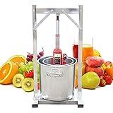 RANZIX Fruktpress fruktkvarn äppelpress fruktjuice juicer 12 liter rostfritt stål