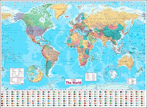 Collins World Wall Paper Map (World Map) por Collins Maps