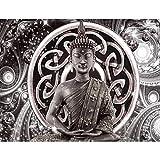 Fototapeten Buddha 352 x 250 cm Vlies Wand Tapete Wohnzimmer Schlafzimmer Büro Flur Dekoration Wandbilder XXL Moderne Wanddeko - 100% MADE IN GERMANY - Feng Shui Runa Tapeten 9108011c