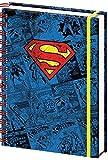 empireposter - Superman - Pop - Größe (cm), ca. 15x21 - Notizbuch, NEU - Beschreibung: - Offizielles Lizenz-Notizbuch im handlichen A5 Format (ca.21x15cm), 4-farbig bedrucktes Hardcover und Spiralbindung mit Gummiband. 180 Seiten liniert. -