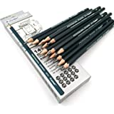 Aavjo Graphite Artist Quality Fine Art Drawing & Sketching Pencils (12B, 10B, 8B, 7B, 6B, 5B, 4B, 3B, 2B, 1B, HB, 2H, 4H, 6H)