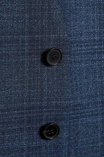 next Uomo Completo a quadri vestibilità sartoriale: Gilet Blu acceso