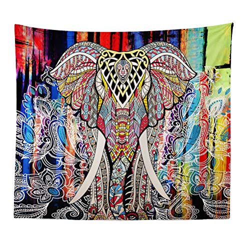 Elefante Indio Mandala Colgar En La Pared Tapiz Hippie Bohemio Impresión Tapices...