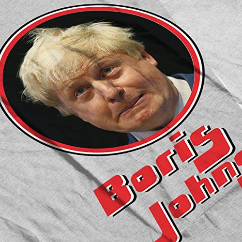 Boris Johnson Retro Photo Frame Men's Vest Heather Grey