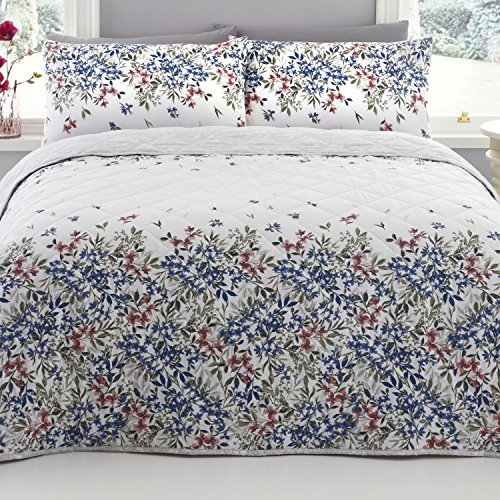 DREAMS AND DRAPES Malinda - Easy Care Duvet Cover Set - Double, Chambray Best Price and Cheapest