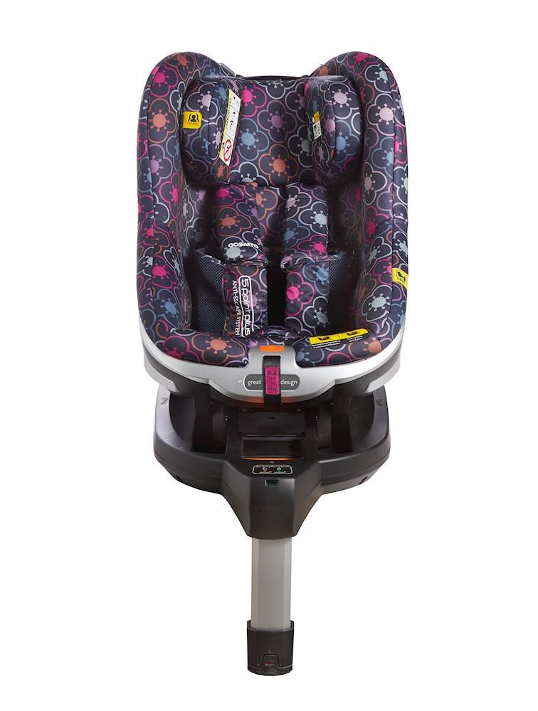 Cosatto Den i-Size Car Seat, Rosie, Birth to 18 kg Cosatto This from-birth i-Size car seat combines ultimate comfort with the latest safety features; ISOFIX fitting and electronic safe-fit warning system bring a simple and secure fit Rearward facing to 15 months / 83 cm Forward facing from 71 to 95 cm - approximatelyimately 3 years; ISOFIX fitting and electronic safe-fit warning system prevent installation errors for peace of mind Dual-walled side-impact protection with high performance energy-absorbing material; snug and secure thanks to the exclusive Anti-Escape System and no-rethread harness adjust 1