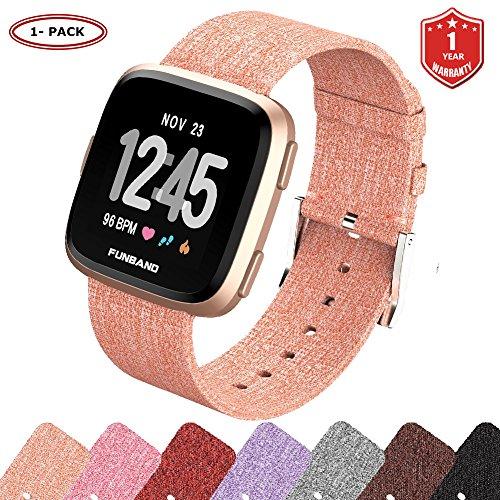 FunBand Fitbit Versa Correa Tejida, Edición Correa de Repuesto para Mujeres Hombres de Liberación Rápida Correa para Fitbit Versa Reloj Inteligente