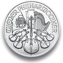 Filarmónica de Viena Moneda de Plata 1onza Fein Plata individualmente en monedas Cápsula de regalo, plateado