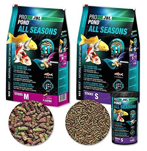 JBL 4124600 Ganzjahresfutter für Koi, Schwimmende Futtersticks, Saisonfutter, ProPondAll Seasons, Größe S, 0,18 kg -