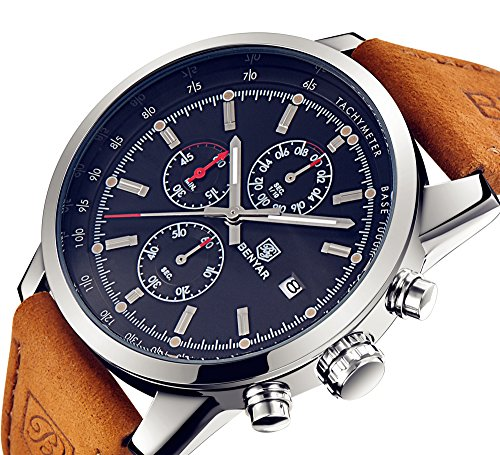 BENYAR Mode Men es Quartz Chronograph wasserdicht...