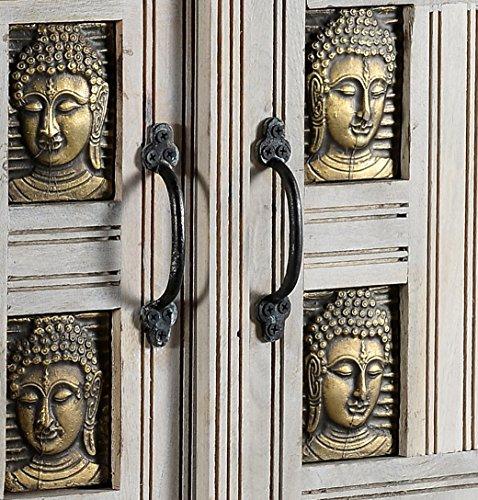 The Wood Times Kommode Highboard Schrank Massiv Vintage Look Buddha Mangoholz, FSC Reycelt, BxHxT 85x138x45 cm - 4