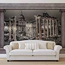 Roma Rovine finestra vista foto carta da parati murale Foto Wallpaper Carta da parati immagine (2868ws), TESSUTO NON TESSUTO (EasyInstall), XXXL - 416cm x 254cm