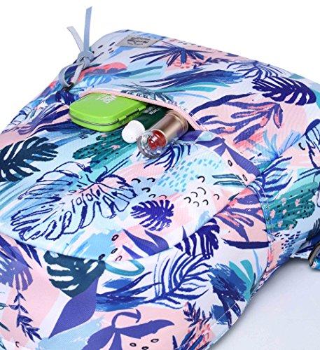 OLETHA Zaino Piccolo Mini Borsellino per Donna | A4 formato | 34x23x11cm | Fenicotteri D212M, Rosa tropicale