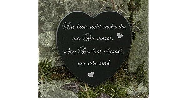 Berühmt Grabschmuck Herz Marmor Trauerspruch Gravur Gedenkstein: Amazon.de @EK_91