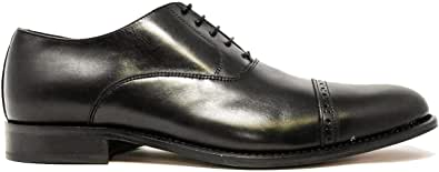 Saxone Of Scotland 350 PF Gentleman Club Black Leather